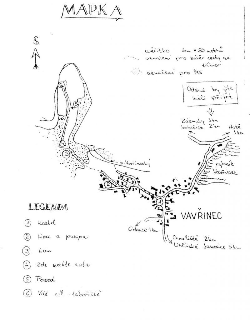 Mapa tábora
